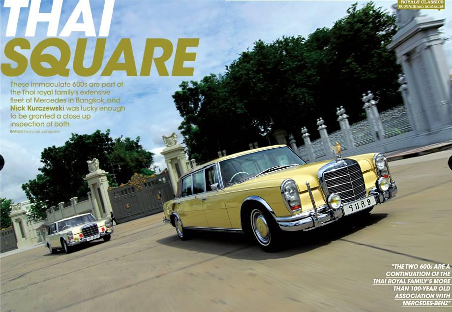 รถยนต์พระที่นั่ง พระบาทสมเด็จพระปรมินทรมหาภูมิพลอดุลยเดช  : 600 SWB & 600 Pullman Landaulet   / Picture from : facebook.com/Happybenz